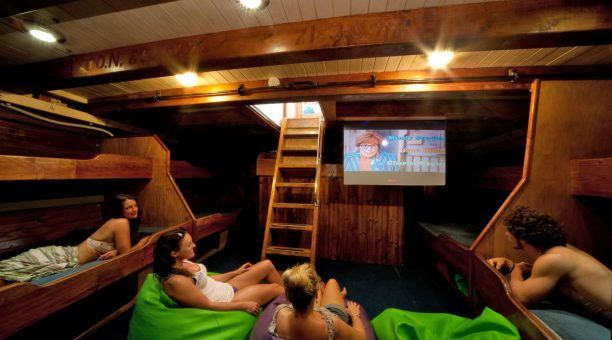 Sit back and relax with a Movie in the Movie Lounge