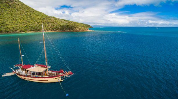 Stay overnight on sheltered anchorage locations