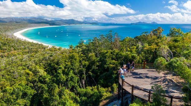 One of the many magnificent views of Whitehaven Beach