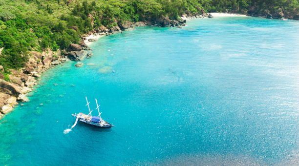 Snorkel straight off the boat in some of these amazing moorings